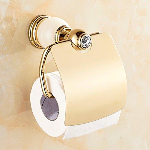 PajCzh Öffentliche Toilettenpapierhalter Jade Papierhandtuchhalter Toilettenpapierhalter Badezimmer Roll Tablett Europäischen Gold Antik Marmor Wc, Weiße Jade