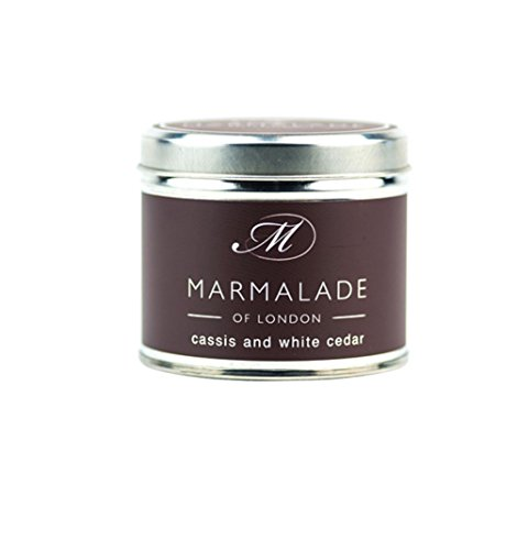 Marmalade of London Cassis & White Cedar Medium Tin Candle