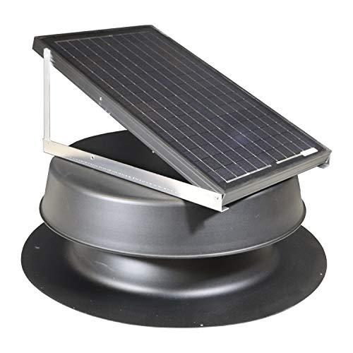 Solar Attic Fan 32-watt - Black - Florida Rated