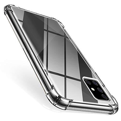 ivencase Funda Compatible con Samsung Galaxy A71, Ultra Fina Silicona Transparente TPU Carcasa Protector Airbag Case Cover Compatible con Samsung Galaxy A71