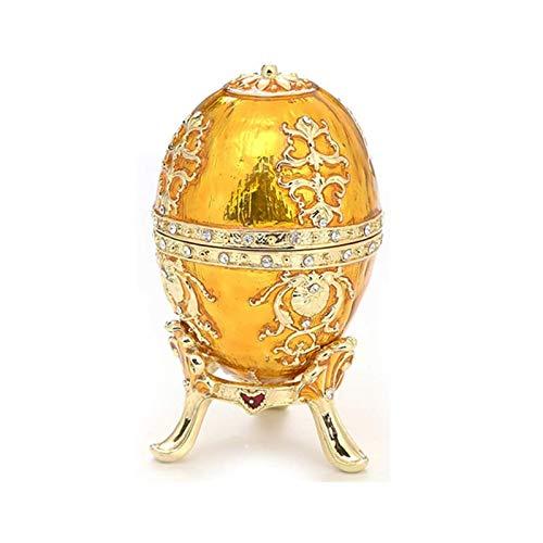 DTKJ Faberge Style Emnage Esmalte Pintado Caja de Almacenamiento Accesorios para el hogar para Anillo, Collar, Organizador de joyería