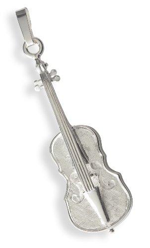 Bijou cadeau musique Argent massif 925 Pendentif Fl/ûte traversi/ère instrument de Musique