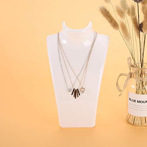Pantalla tridimensional duradera Soporte de exhibición de joyería de 3 colores Estante de exhibición de joyería, Soporte de pendiente, para collar para cadenas de joyería de pendiente(blanco)