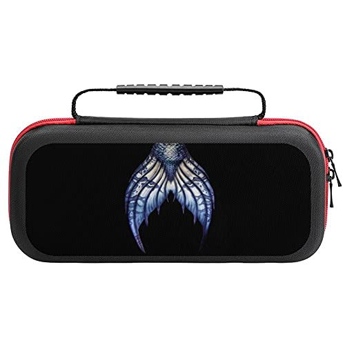Blue Mermaid Tail Carrying Case For Nintendo Switch Protective Portable Travel Tote Bag