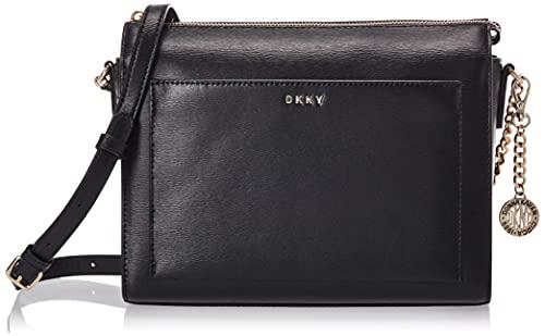 DKNY Women's Bryant Crossbody, Black Gold, One Size