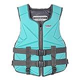 FR&RF Neopreno Chaleco de Vida Adulto Agua Deportes Agua Chaleco de Pesca Kayaking Boating Vieja Vida Natación Drifting Seguridad Vestir...