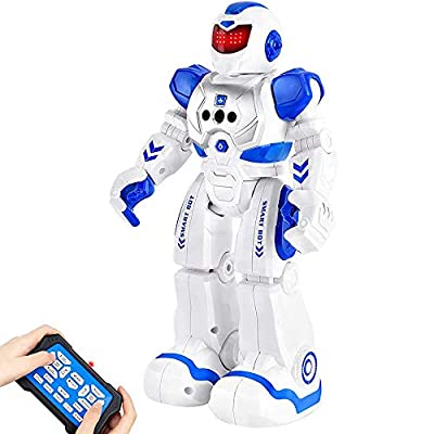 BEIWO Smart RC Robots for Kids, Intelligent Programmable Robot Toy, Remote Control Robot for Boy Toys, Dancing, Singing, Talking, Gesture Sensing Robotic Toys Boys Girls Kids Birthday Gift Present
