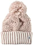 Volcom Junior's Chalet Rollover CLASSISC FIT POM Beanie, Faded Pink, O/S