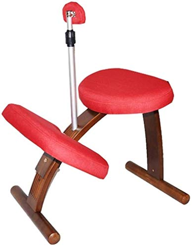 ACUIPP De rodillas silla sillas Salud multifuncional rodilleras rodilleras Silla ergonómica de Muebles para el Hogar Oficina Silla de escritorio sin respaldo,rojo