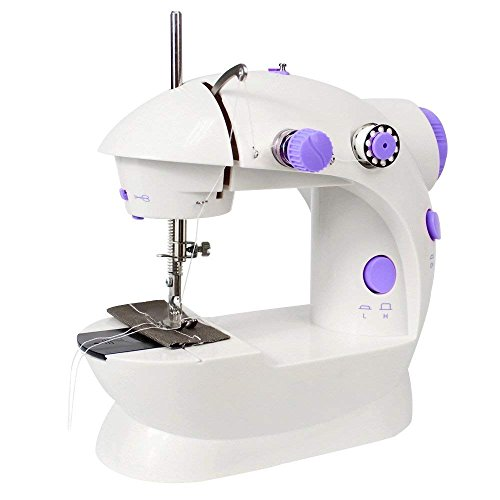 LIANTRAL Sewing Machine, Mini Portable Electric Crafting Mending Machine with Low/High Speed, Double Thread, Foot Pedal, Perfect for Household and Beginner