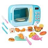 Hellery Horno de Microondas para Niños, Juguete Electrónico, Aparato de Cocina de Simulación para Niños Pequeños. - Azul 31psc