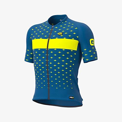 Alé Cycling PRR Stars Kurzarm Trikot Herren Petrol/gelb Größe L 2021 Radtrikot kurzärmlig