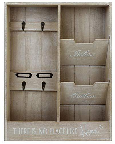 Mayfield Living Wandorganizer Schlüsselkasten Holz Schlüsselbrett Board Ablage 48x36x7cm Landhaus Flur