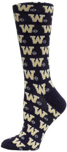 NCAA Washington Huskies Dress Socks, Purple/White