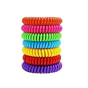 7 Pack Bracelet Anti Moustique Enfant Adulte, Plantes Bracelet Anti Moustiques, Ultrasons Anti-Moustiques Wristband, Portable étanche Accessoires de Camping Et de Randonnée en Plein Air