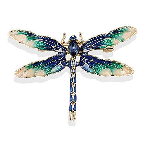 YONGHUI Emaille-Brosche Libelle für Frauen, schöne Insektenbrosche Pins Mantel Jacke Revers Schal Schal Dekoration Kette Anhänger Schmuck Zubehör (Stil 5)