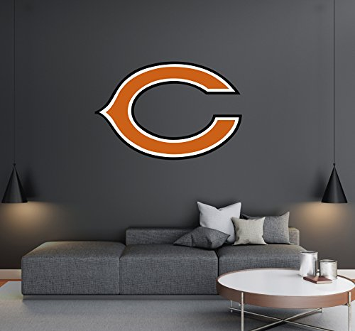 Chicago Bears - Football Team Logo - Wall Decal Removable & Reusable For Home Bedroom (Wide 30