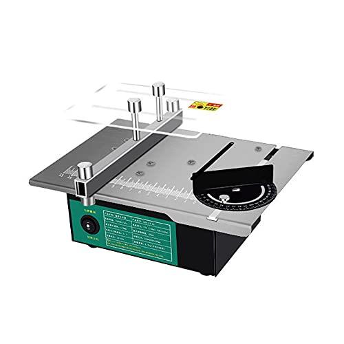 Kibola Mini sierra de mesa multifuncional, ángulo ajustable, sierras de escritorio eléctricas...