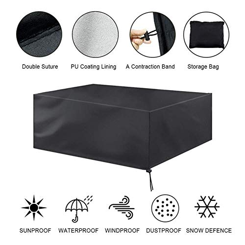 Knoijijuo Copertura Mobili da Giardino Copertura Impermeabile Copertura del Divano Serra Tavoli e sedie Protezione Solare Copertura Protettiva Tessuto Oxford,60x60x60cm