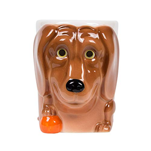 el & groove 3D Labrador Tasse in braun, Golden Retriver Tee-Tasse 350 ml aus Porzellan, Kaffee-Tasse, Dog Mug, Retriever, Hunde Deko, Hundetasse, Hunde Tasse, Geschenk Weihnacht, Geschenk Hund