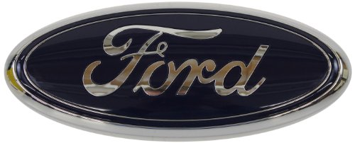 Genuine Ford AA8Z-9942528-A Nameplate DARK BLUE, 9 x 3.5 INCHES