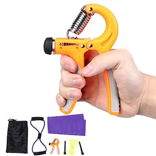 Brust Expander Seil Latex Handtuch verstellbarer Handtrainer Griff 5 Stück/Set Yoga Fitness Set