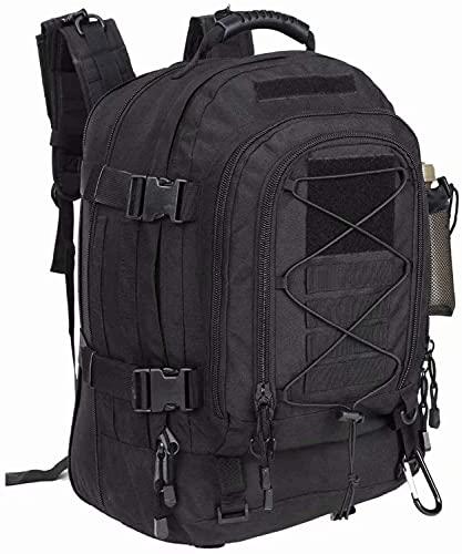 Groß New 2021 Militär Rucksack Taktischer Rucksack Wasserabweisend Molle System Wanderrucksack Survival Rcksack 40-64L für Survival Camping Erwachsenenrucksack 1051