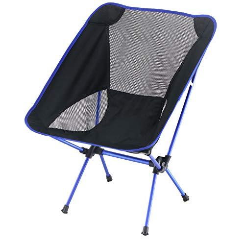 Sutekus Ultralight Folding Camping Backpacking Chair Camping Folding Chairs Beach Chairs (Blue)