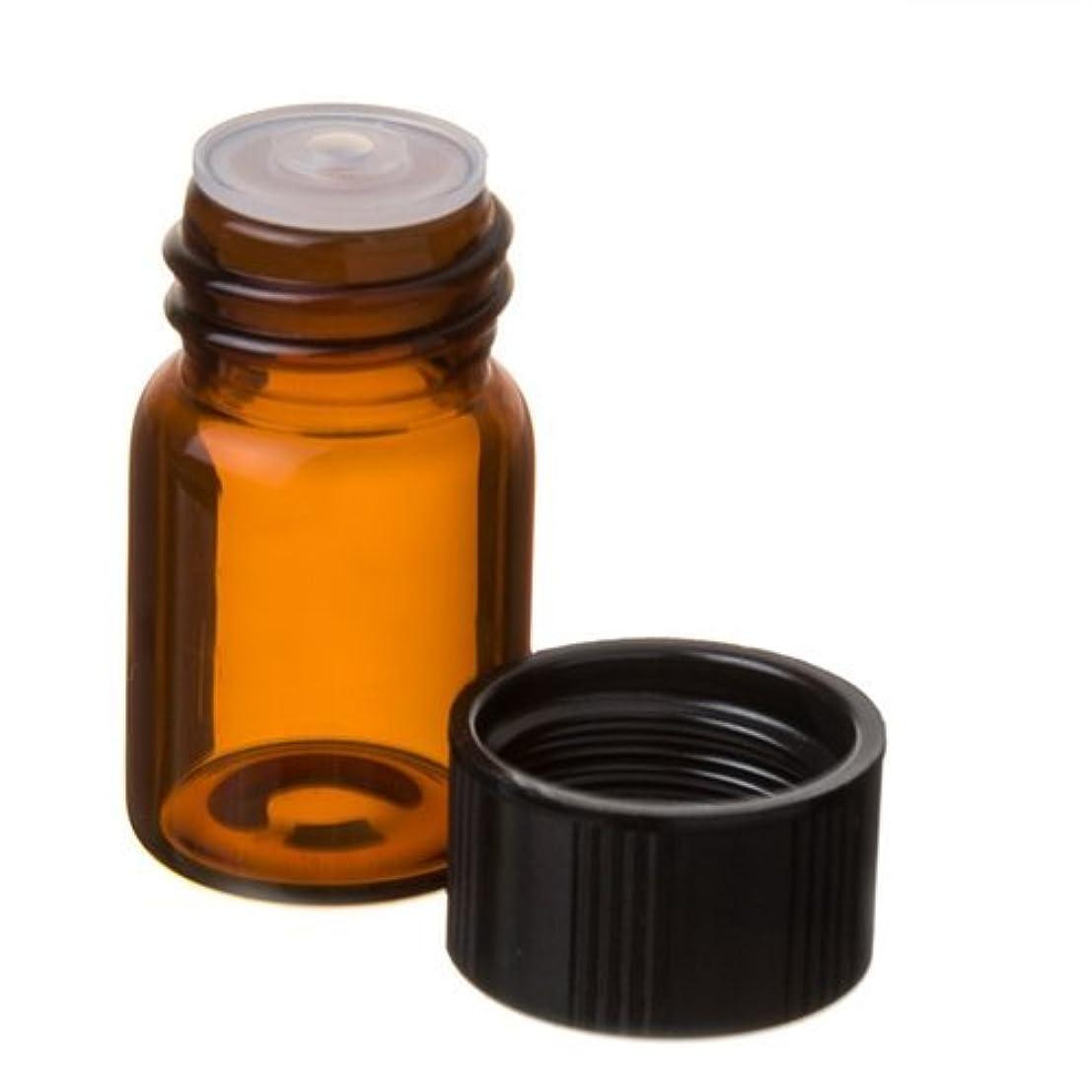 孤独な豊かな首謀者5/8 Dram AMBER Glass Vial with Dropper Top for Essential Oils - Screw Cap w/Orifice Reducer - Pack of 12 Bulk Lot 2.3ml Each by Grand Parfums [並行輸入品]