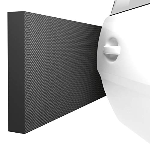 ATHLON TOOLS 4x MaxProtect Premium Garagen-Wandschutz selbstklebend - je 40 x 20 x 2,0 cm -Rammschutz Prallschutz Garagenpolster Türkantenschutz (Schwarz)