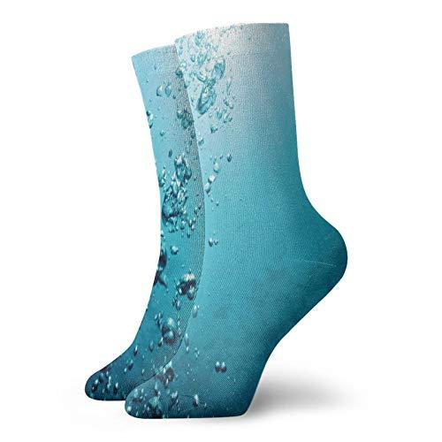 Chaussettes courtes douces longueur mollet - Thème naturel du bois flotté et du lac en Pologne - Pour une journée d'été ensoleillée - Chaussettes pour homme et femme - Idéales pour la course à pied