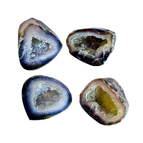 Natural Mini geoda ágata drusa forma mixta piedra preciosa suelta Proveedor, piedra para uso de joyería 23937