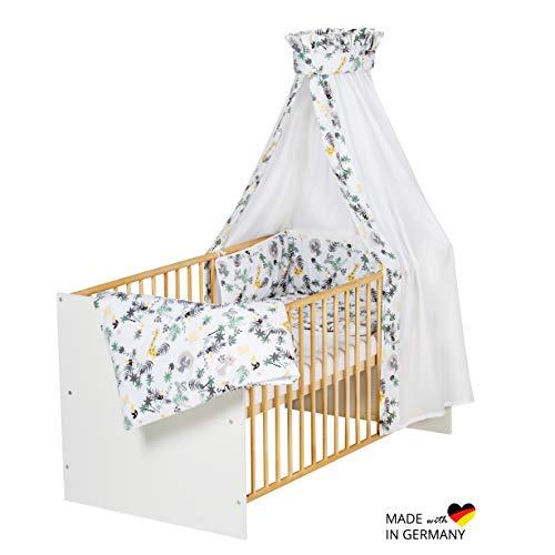 Schardt 04 507 02 03 785 Classic Gold Lit complet 4 pièces avec housse en textile pour garçon, matelas et tringle à ciel Beige 70 x 140 cm
