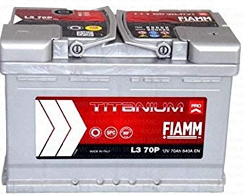 Fiamm Titanium L370, batteria per automobile, 70Ah, 640A, polo positivo a destra
