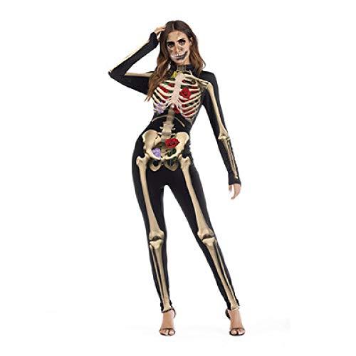 Ropa De Halloween Disfraz De Zombie Rosa Esqueleto Adultos Niños Disfraz De...