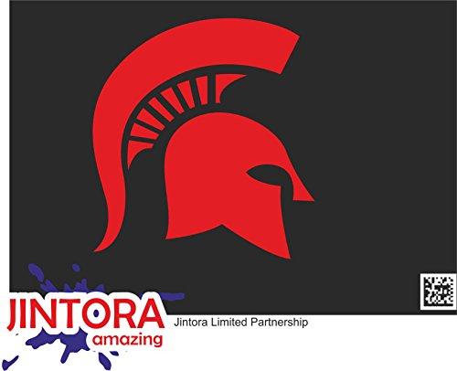 JINTORA Etiqueta para el Coche/Etiqueta engomada - Perfil Espartano - 107x99 mm - JDM/Die Cut - Coche/Ventana/Laptop/Tuning -...