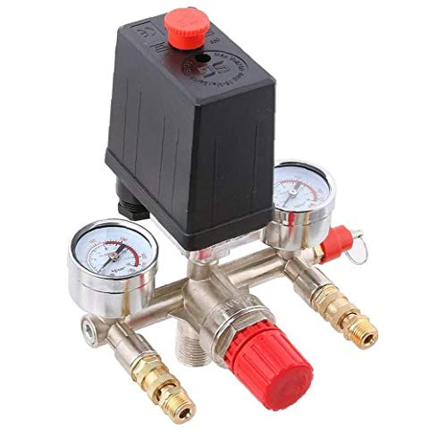 LAANCOO Luftkompressor Druckschalter pneumatische Manometer automatisches Regelventil Regulierventil Manometers