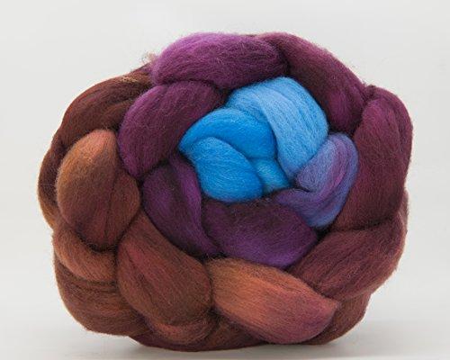 Kim Dyes Yarn Hand-Dyed Gradient Spinning Fiber (Organic Polwarth, Santa Fe Gradient)
