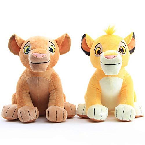 nanyin 2 Stück Der König Der Löwen Simba Nala Weiche Kinderpuppe 26Cm, Simba Kuscheltiere Plüschtier, Kinder Spielzeug Geschenke