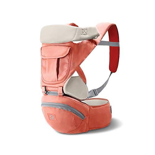 SONARIN 3 in 1 Multifunktion Hipseat Baby Carrier, Babytrage,Front-Facing-Sling,Große Lagerung, Ergonomisch, All Seasons(Orange)