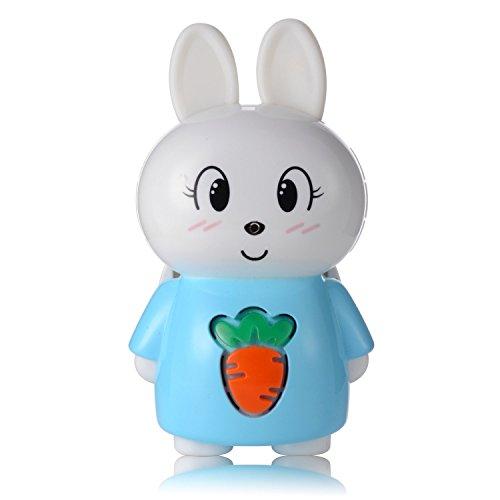 AGPTEK S1 8GB Bluetooth Bunny Storytelling for Kids,Wearable Children Digital Player, Blue