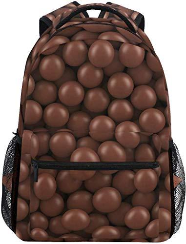 WKLNM Yummy Chocolade Bonen Patroon Casual Rugzak Student School Tas Reizen Wandelen Camping Laptop Daypack