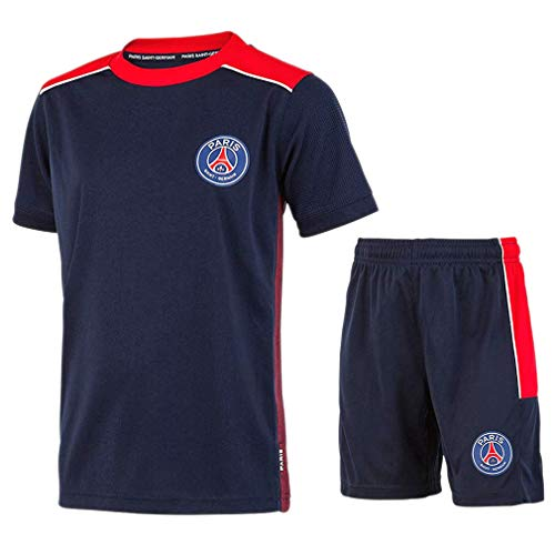 PSG - Official Paris Saint-Germain Kids Soccer Jersey & Shorts - Blue (14 Years)