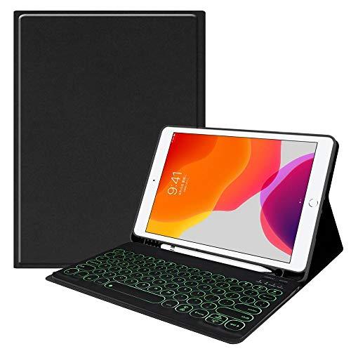 MENGYI Bluetooth keyboard for tablet Backlit Bluetooth Keyboard Smart Case For Ipad 10.2 2019 / Pro 11 2020 Air 3 10.5/2018 9.7 Air For Ipad 7th Generation Case keyboard case