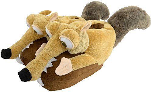 Ice Age Collision Course Slippers Scrat Size 32-34 ICAG Footwear