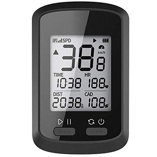 Josopa Cuentakilómetros de Computadora Bicicleta Inalámbrico GPS Bicicleta Ciclismo Rastreador Velocímetro Ipx7...