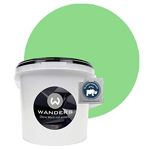 Wanders24 Pittura lavagna (3 litri, Verde chiaro) pittura murale, vernice effetto avagna, lavabile, creativa, scrivibile, vernice lavagna, vernice lavagna, color lavagna, parete lavagna