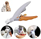 SYNARA Illuminated Pet Nail Clipper Great for Cats & Dogs, Features LED Light,Trimmer Grinder Grooming Tool Care Clipper for Pet, 5X Magnification Dog Nail Scissor ,Effectively Protect Blood Line