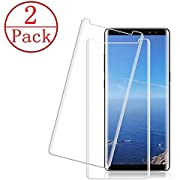 [2 Pack] LuettBiden Compatible Samsung Galaxy Note 9 Screen Protector,[Bubble-Free] [HD Clear] [3D Curved Edge] [9H Hardness] [Anti-Scratch] Tempered Glass Screen Protector Compatible Galaxy Note 9