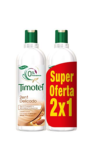 Timotei Champú 2 en 1 Delicado - 2 Unidades da 400 ml, Total: 800 ml